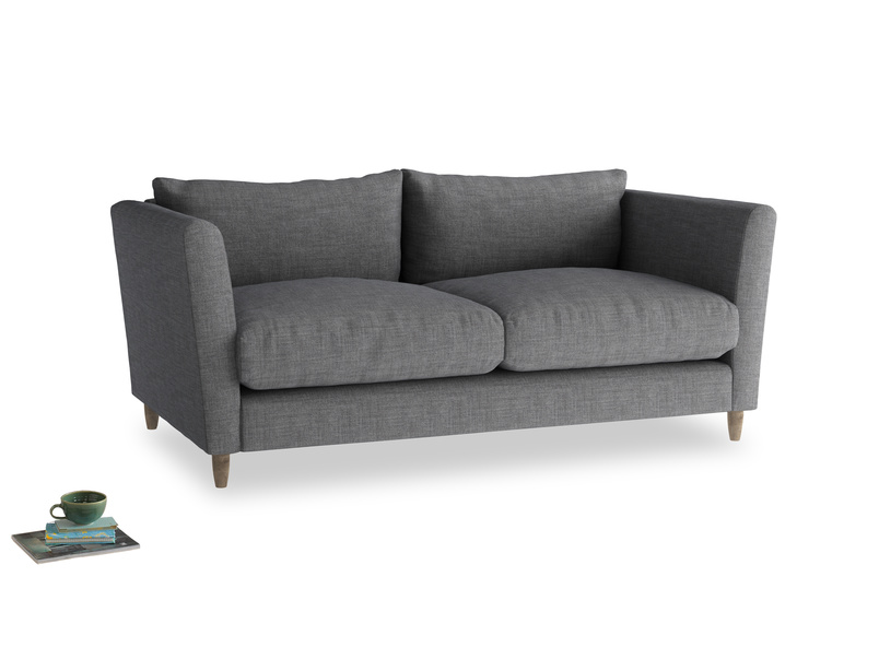 Medium Flopster Sofa in Strong Grey Clever Woolly Fabric