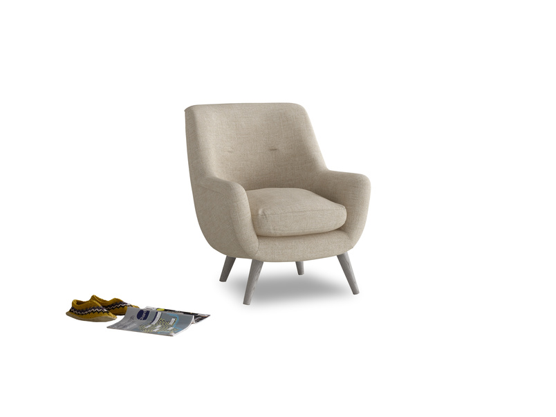 Berlin Armchair in Flagstone clever woolly fabric