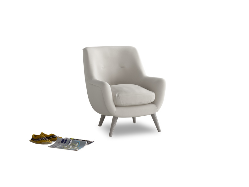 Berlin Armchair in Moondust grey clever cotton