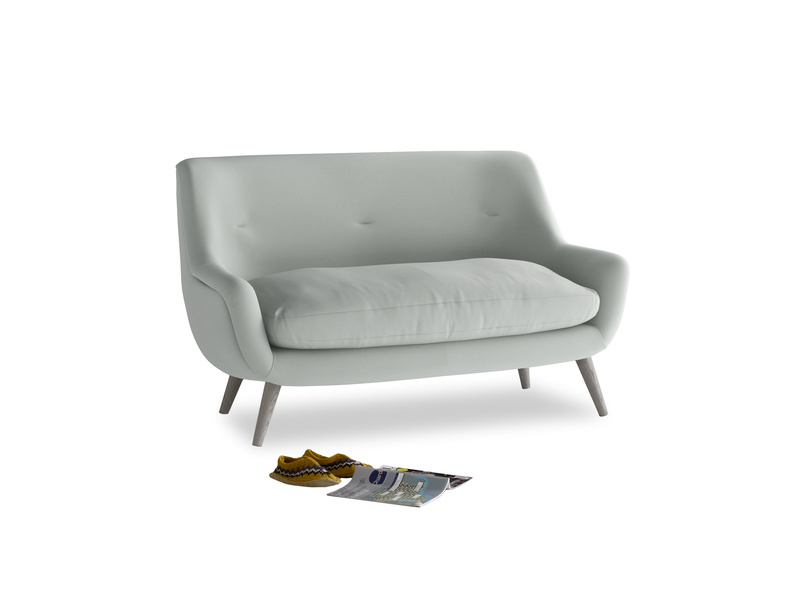 Small Berlin Sofa in Eggshell grey clever cotton