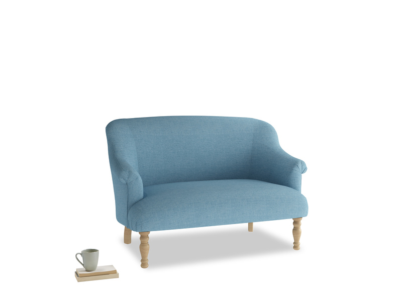 Small Sweetie Sofa in Moroccan blue clever woolly fabric