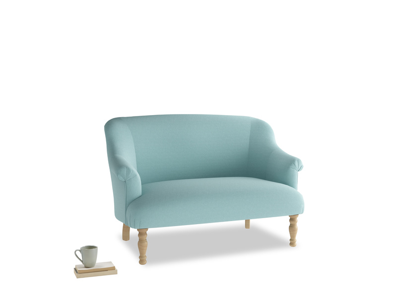 Small Sweetie Sofa in Adriatic washed cotton linen