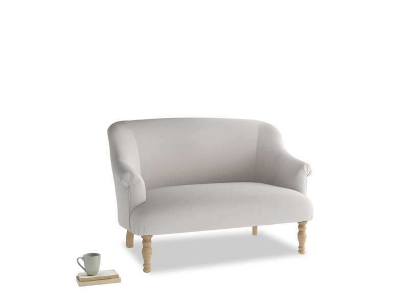 Small Sweetie Sofa in Lunar Grey washed cotton linen