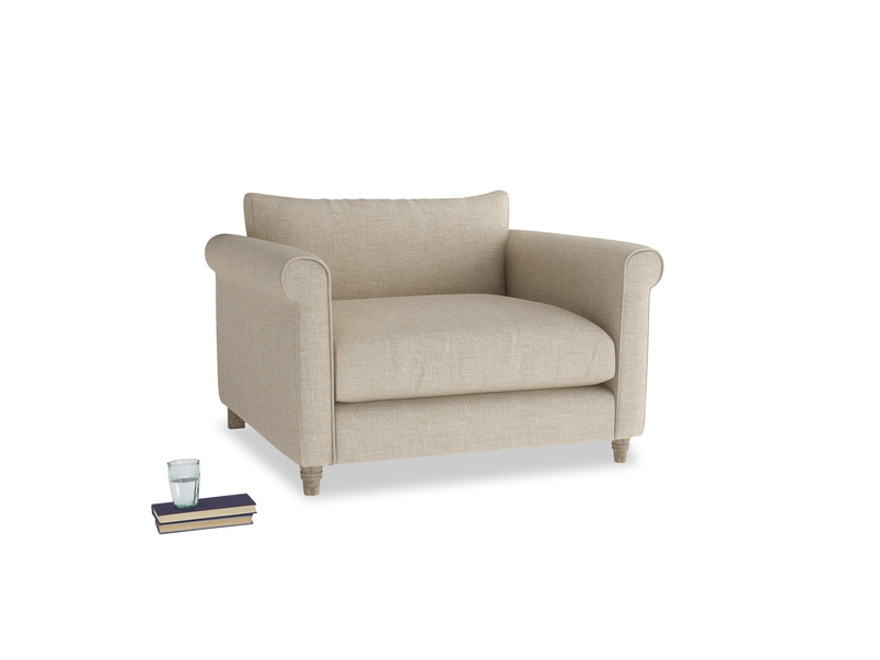 Weekender Love seat in Flagstone clever woolly fabric