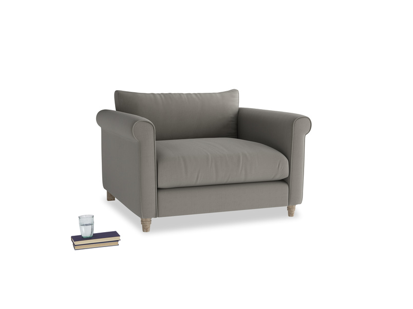 Weekender Love seat in Monsoon grey clever cotton