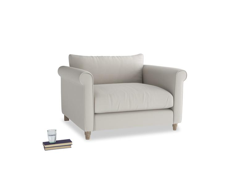 Weekender Love seat in Moondust grey clever cotton
