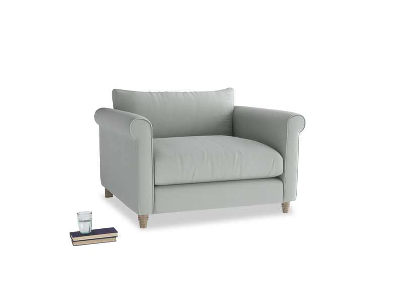 Weekender Love seat in Eggshell grey clever cotton