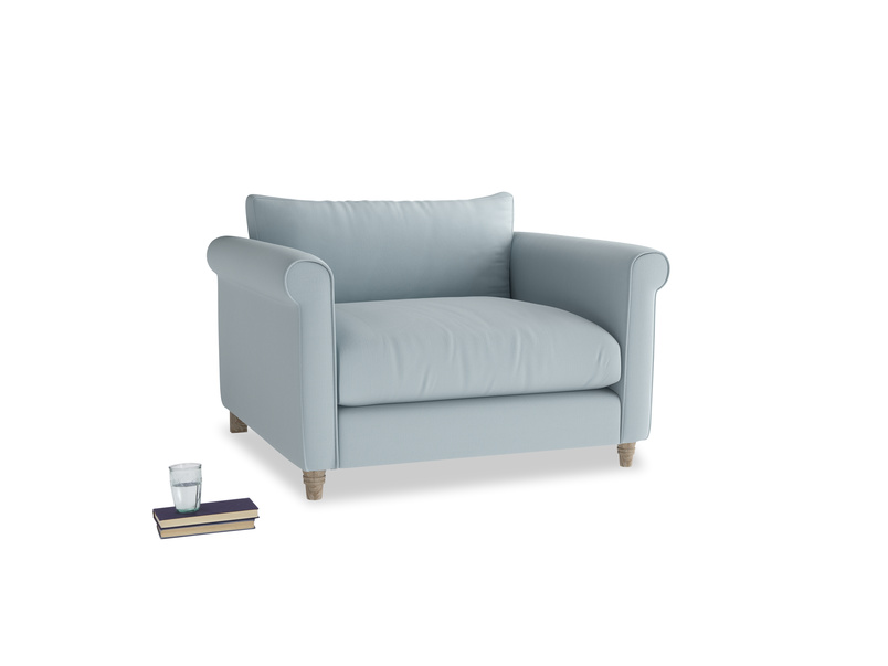 Weekender Love seat in Scandi blue clever cotton