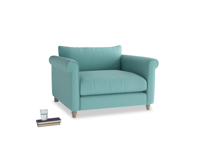 Weekender Love seat in Kingfisher clever cotton