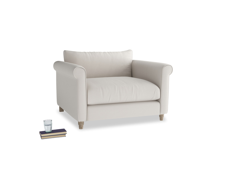 Weekender Love seat in Chalk clever cotton
