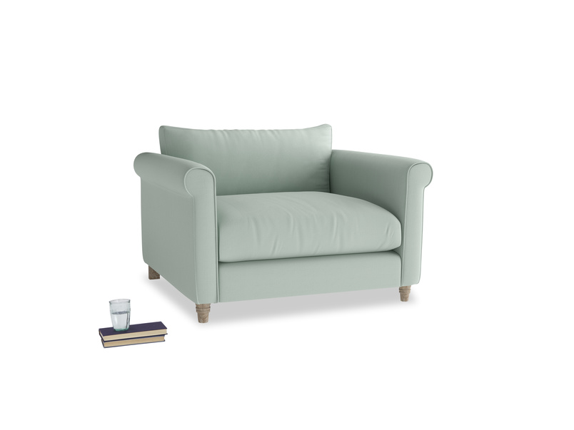 Weekender Love seat in Sea surf clever cotton