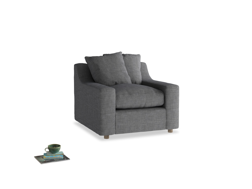 Cloud Armchair in Strong grey clever woolly fabric