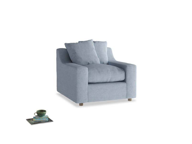 Cloud Armchair in Frost clever woolly fabric