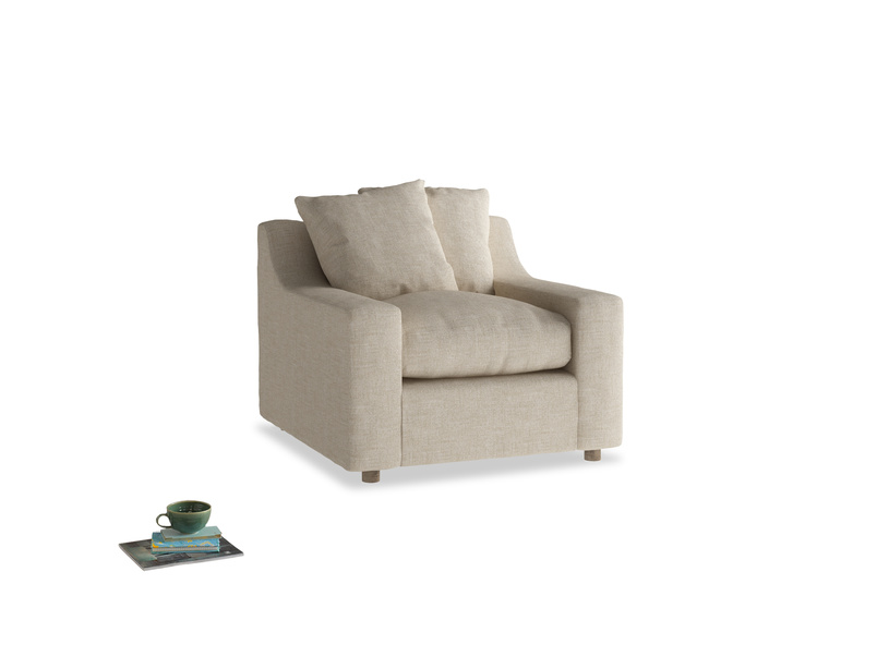 Cloud Armchair in Flagstone clever woolly fabric