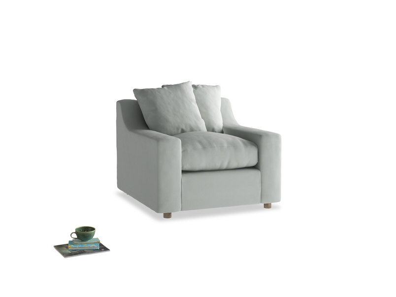 Cloud Armchair in Eggshell grey clever cotton