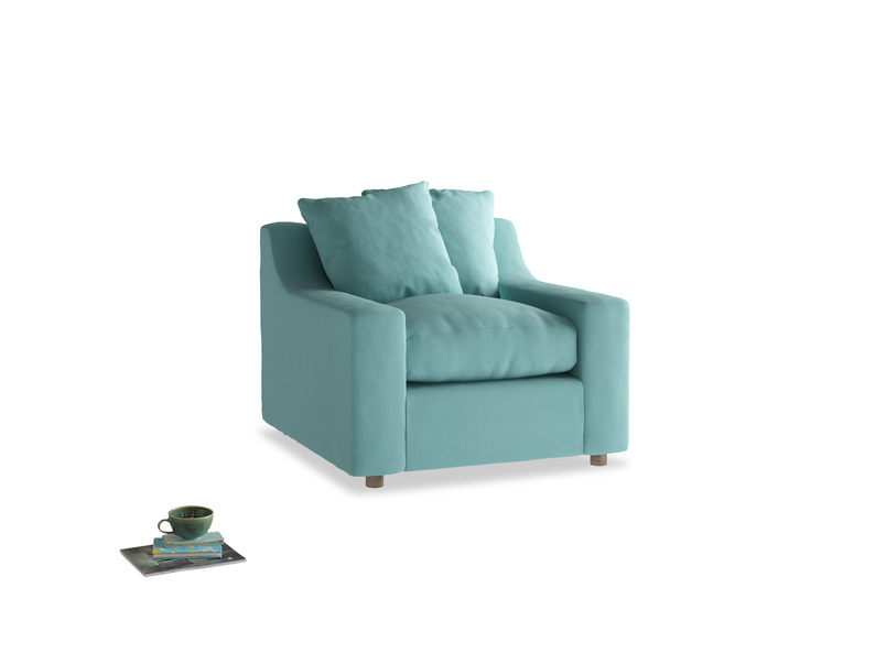 Cloud Armchair in Kingfisher clever cotton