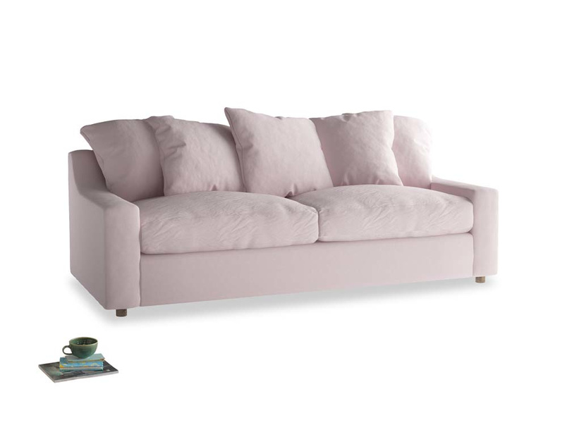 Large Cloud Sofa in Dusky blossom washed cotton linen