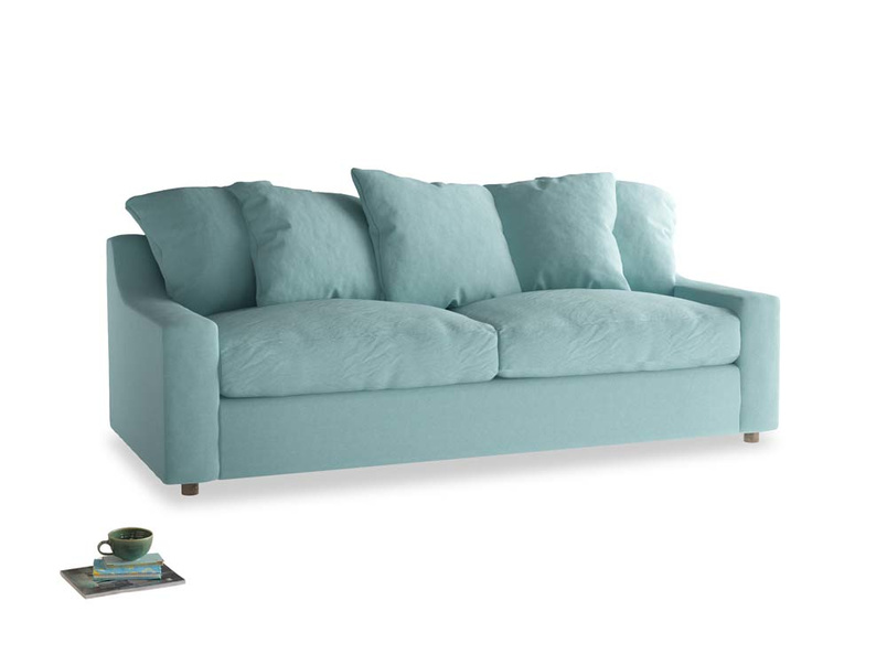 Large Cloud Sofa in Adriatic washed cotton linen