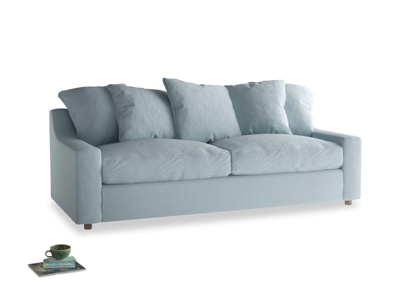 Large Cloud Sofa in Soothing blue washed cotton linen