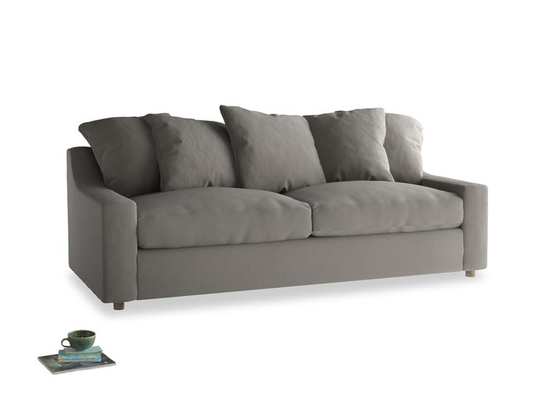 Large Cloud Sofa in Monsoon grey clever cotton