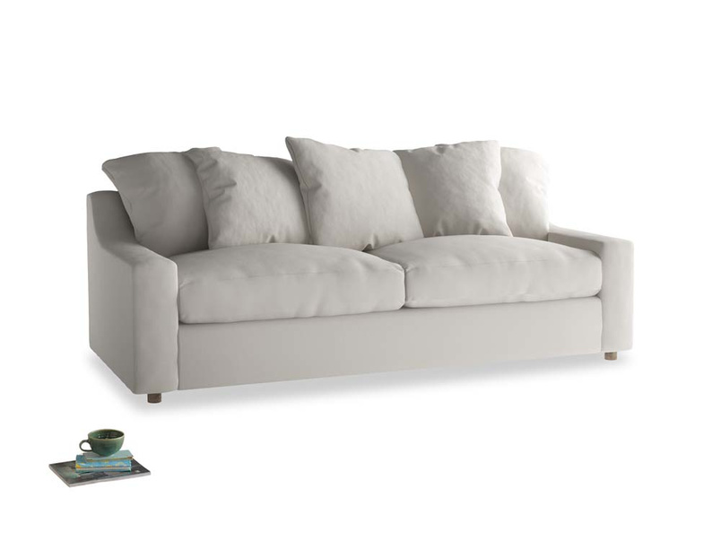 Large Cloud Sofa in Moondust grey clever cotton