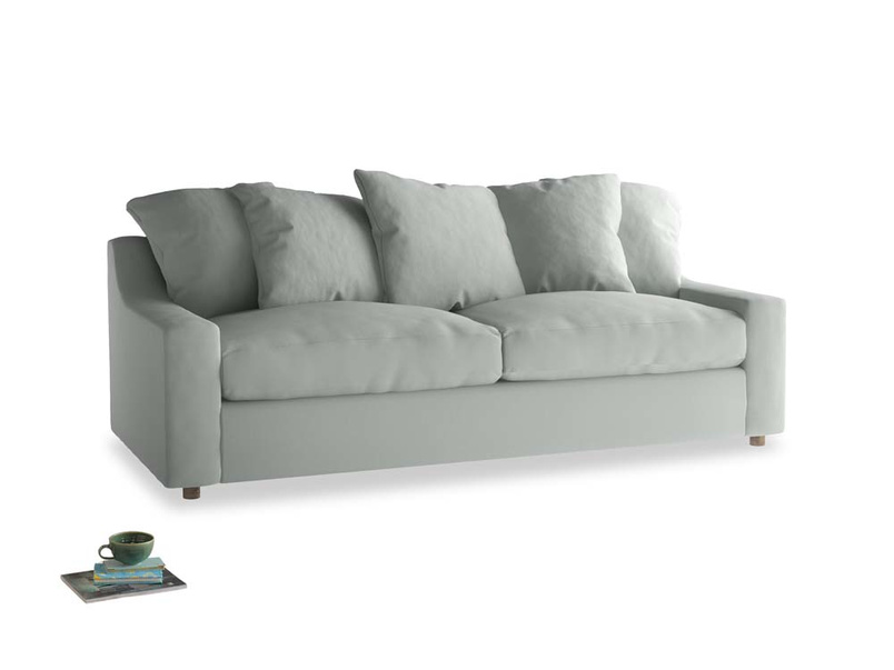 Large Cloud Sofa in Eggshell grey clever cotton