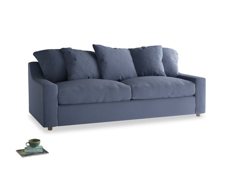 Large Cloud Sofa in Breton blue clever cotton
