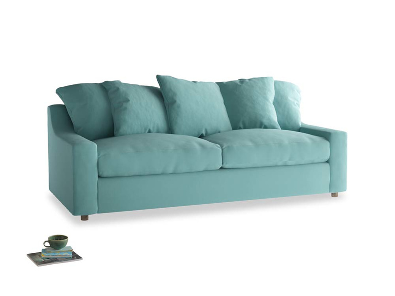 Large Cloud Sofa in Kingfisher clever cotton