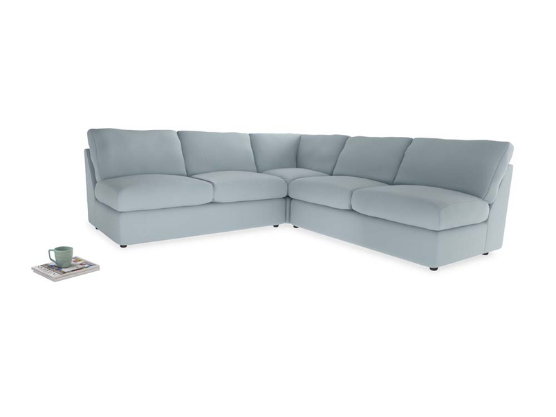Even Sided  Chatnap modular corner storage sofa in Scandi blue clever cotton