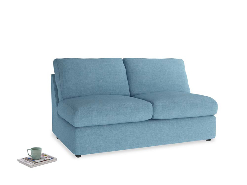 Chatnap Storage Sofa in Moroccan blue clever woolly fabric