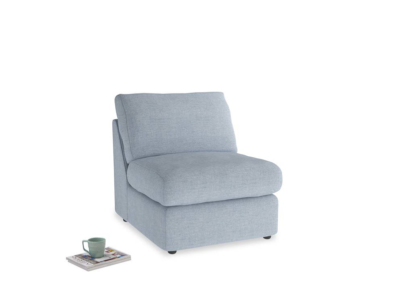 Chatnap Storage Single Seat in Frost clever woolly fabric