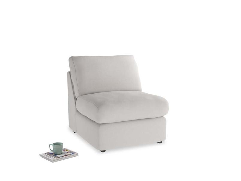 Chatnap Storage Single Seat in Lunar Grey washed cotton linen