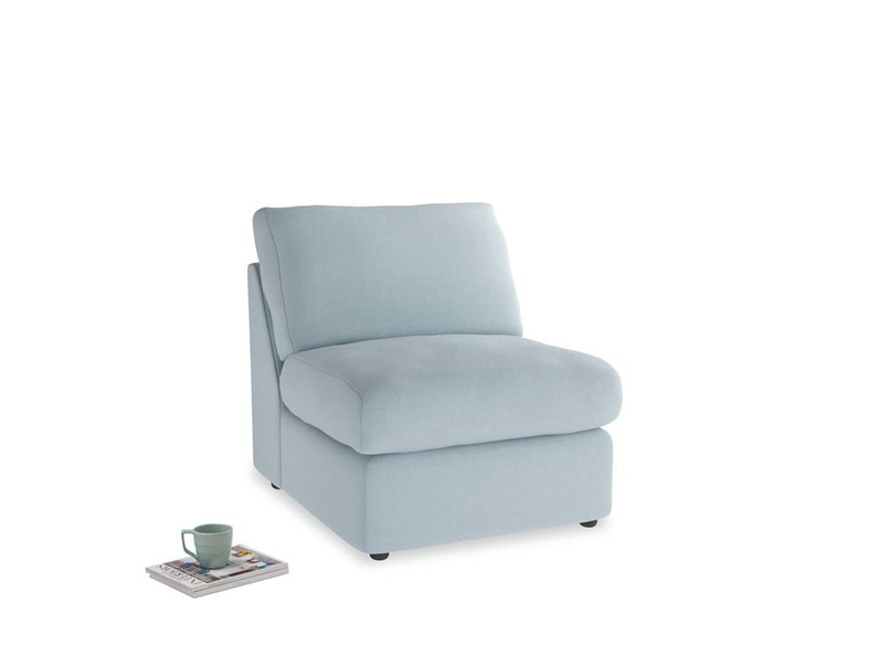 Chatnap Storage Single Seat in Soothing blue washed cotton linen