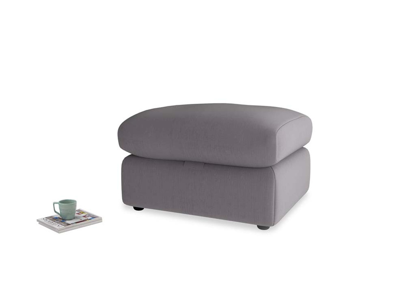 Chatnap Storage Footstool in Graphite grey clever cotton