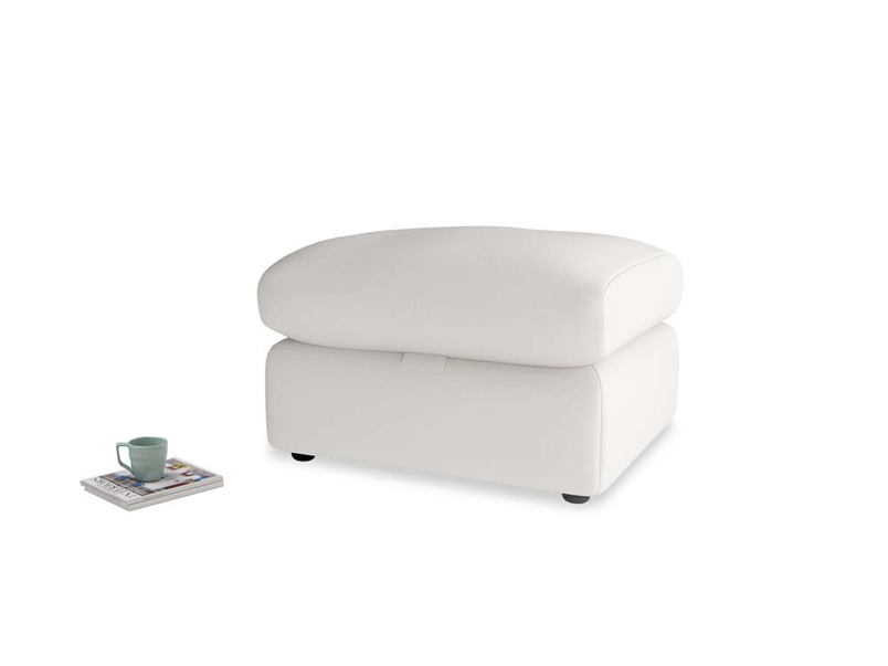 Chatnap Storage Footstool in Chalk clever cotton