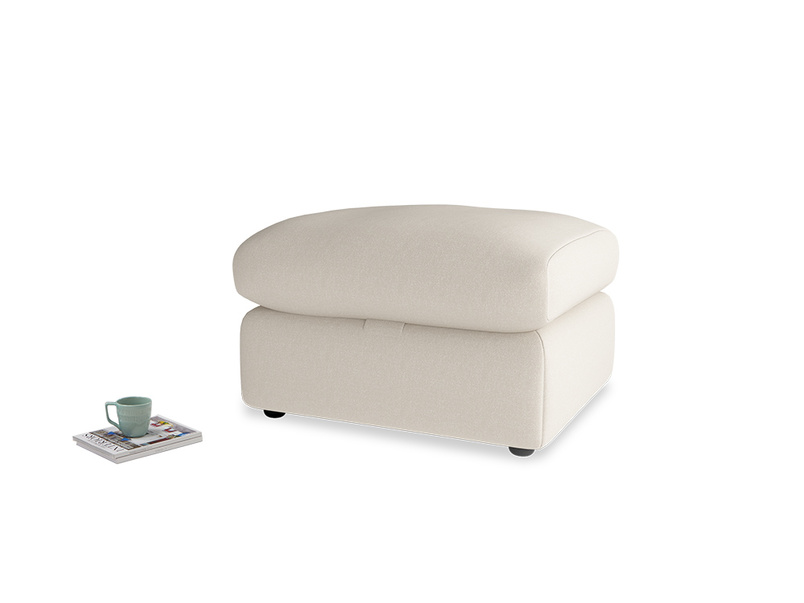 Chatnap Storage Footstool in Buff brushed cotton
