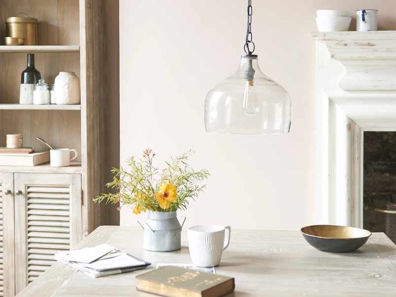 Medium Cowbell bell shaped glass pendant light