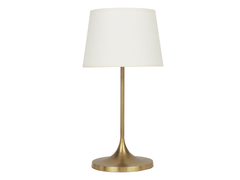 Zillions brass table lamp
