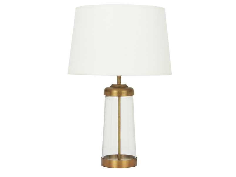 Diner Table Lamp with Natural Hessian shade