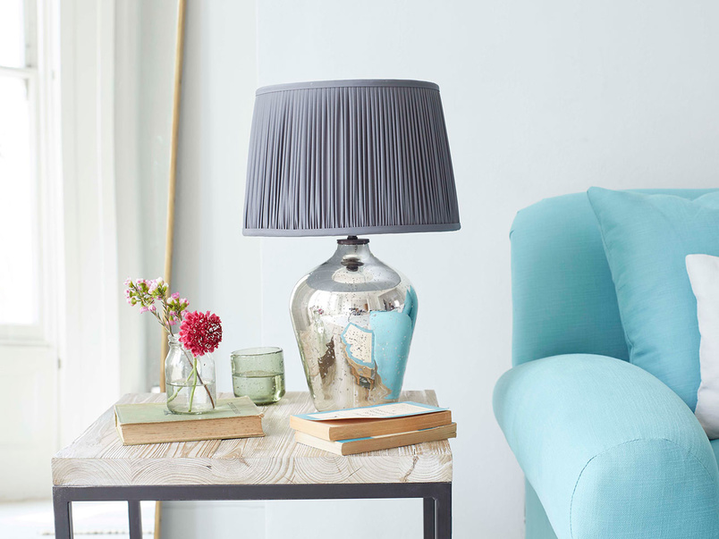 Small Brekka mercury glass table lamp