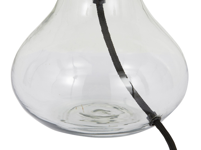 Mini Bessy glass base table lamp