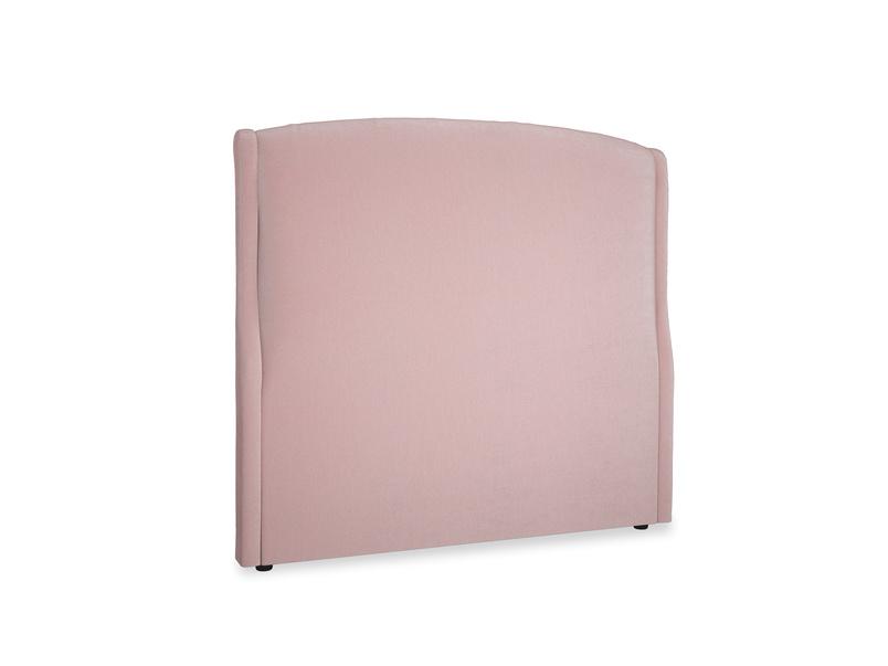 Double Dazzler Headboard in Chalky Pink vintage velvet