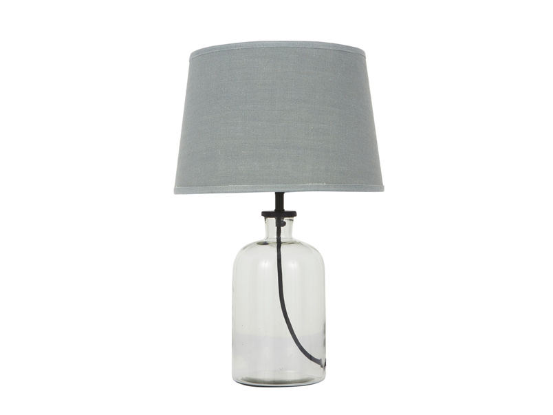 Small Apothecary table lamp with glass base