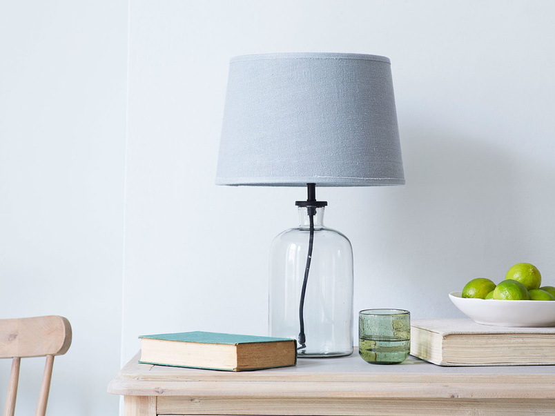 Small Apothecary glass table lamp