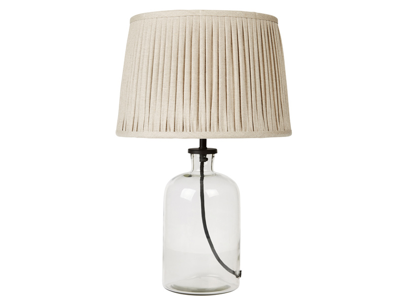 Small Apothecary Table Lamp with Natural shade
