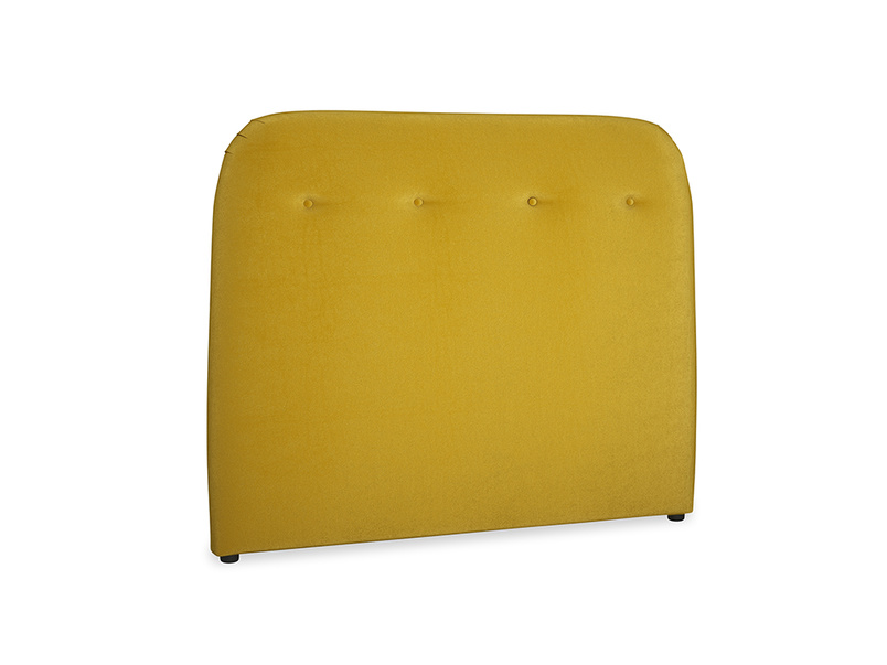 Double Napper Headboard in Burnt yellow vintage velvet