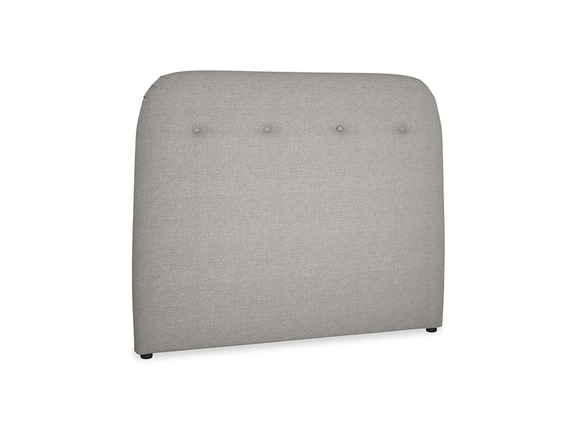 Double Napper Headboard in Marl grey clever woolly fabric