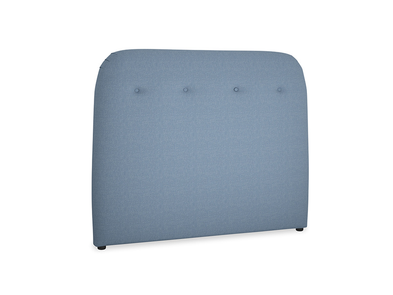 Double Napper Headboard in Nordic blue brushed cotton