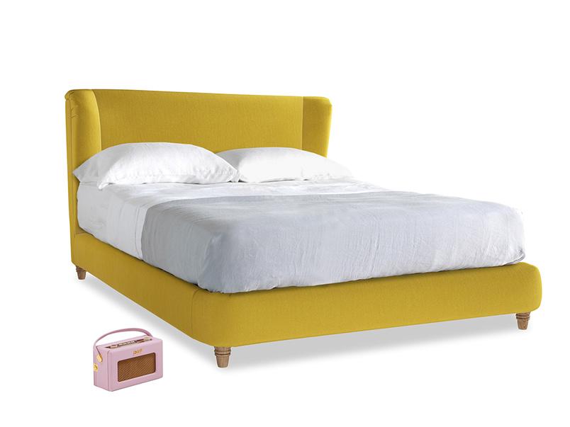 Kingsize Hugger Bed in Bumblebee clever velvet