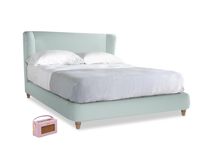 Kingsize Hugger Bed in Gull's Egg Brushed Cotton